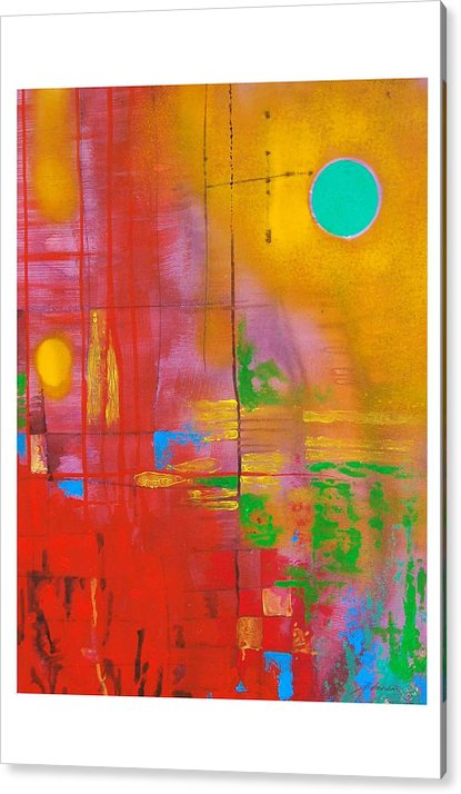 Abstract Acrylic Print featuring the painting Untitled by Padmakar Kappagantula