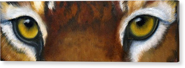 Tiger Eyes Acrylic Print featuring the painting Whos Watching Who  Tiger by Darlene Green