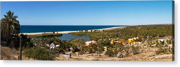 Photography Acrylic Print featuring the photograph Fresh Water Lagoon At Playa La Poza by Panoramic Images