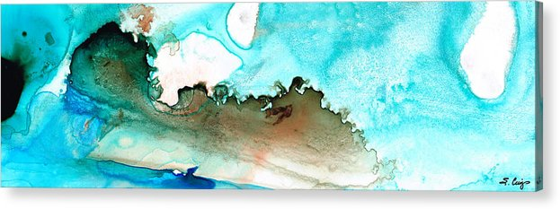 Island Acrylic Print featuring the painting Island Of Hope by Sharon Cummings