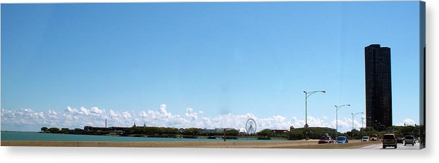 Cities Acrylic Print featuring the photograph Chicago Summer Sky by Thomas Woolworth