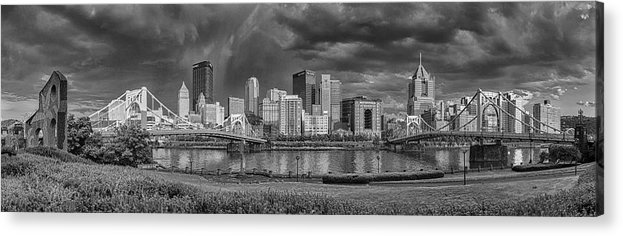 Pittsburgh Acrylic Print featuring the photograph Brooding Above The Burgh by Jennifer Grover