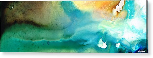 Abstract Art Acrylic Print featuring the painting Pathway To Zen by Sharon Cummings