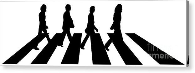 Artwork Acrylic Print featuring the digital art The Beatles No.02 by Caio Caldas