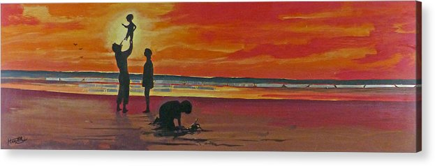 Hanzer Art Acrylic Print featuring the painting Joy by Jack Hanzer Susco