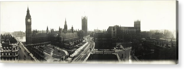 Parliament Acrylic Print featuring the photograph Parliament Square London 1890 by Bill Cannon