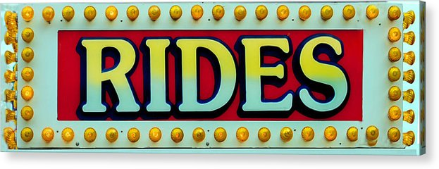 Fair Acrylic Print featuring the photograph Rides by Skip Willits