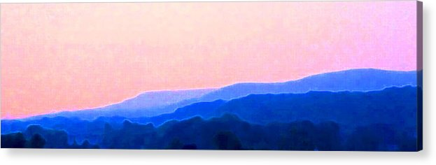 Landscape Acrylic Print featuring the photograph In The Hills 2 by Lyle Crump
