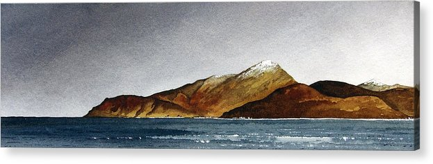 Seascape Acrylic Print featuring the painting Looking Towards Arran From Skipness by Paul Dene Marlor