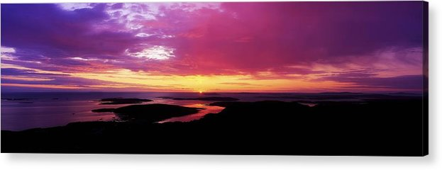 Calm Acrylic Print featuring the photograph Sunset, Connemara, Co Galway, Ireland by The Irish Image Collection
