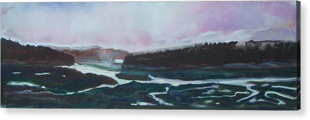Maine Acrylic Print featuring the pastel Towards Edgecomb by Grace Keown