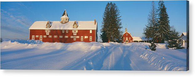 Photography Acrylic Print featuring the photograph Winter In New England, Mountain View by Panoramic Images