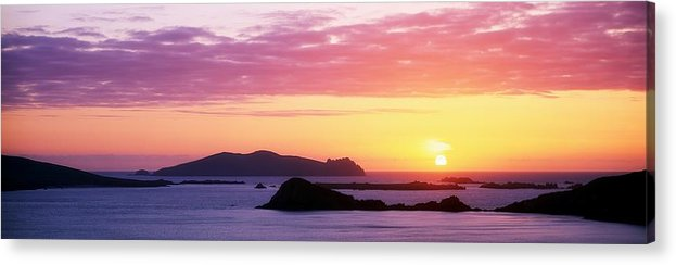 Atmospheric Acrylic Print featuring the photograph Inishtookert Island Blasket Islands, Co by The Irish Image Collection
