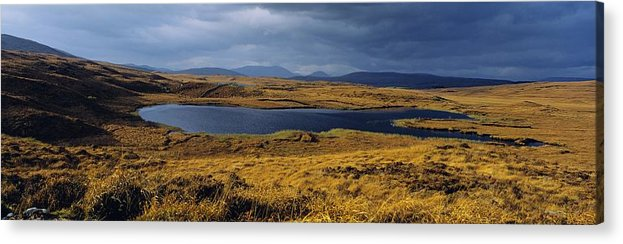 Bog Acrylic Print featuring the photograph Lake In A Bog, Oughterard, Connemara by The Irish Image Collection