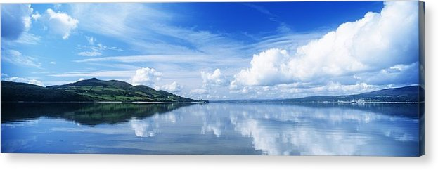 Cloud Acrylic Print featuring the photograph Reflection Of Clouds In Water, Lough by The Irish Image Collection