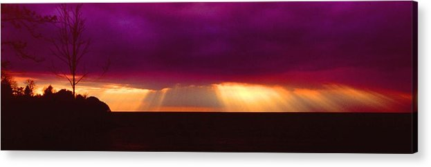 Sunset Acrylic Print featuring the photograph 092908-4 by Mike Davis