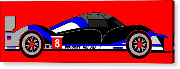 Peugeot 908 Acrylic Print featuring the digital art Peugeot 908 Hdi Sat - No. 8 by Asbjorn Lonvig