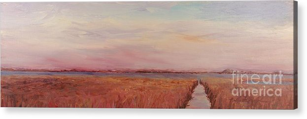 Landscape Acrylic Print featuring the painting Provence Camargue by Nadine Rippelmeyer