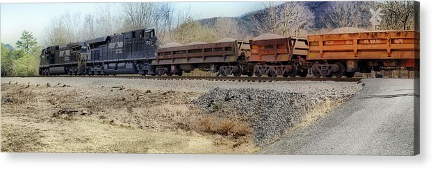 Train Acrylic Print featuring the photograph Vesuvius Train by Kathy Jennings