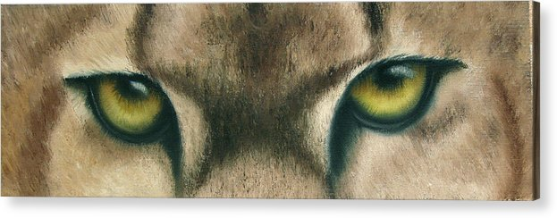 Panther Eyes Acrylic Print featuring the painting Whos Watching Who Panther by Darlene Green