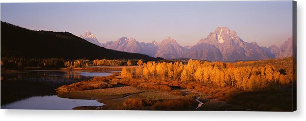 Photography Acrylic Print featuring the photograph Oxbow Bend Grand Teton National Park Wy by Panoramic Images