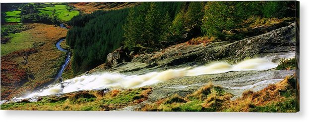 Co Wicklow Acrylic Print featuring the photograph Glenmacnass Waterfall, Co Wicklow by The Irish Image Collection