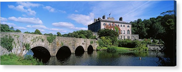 18th Century Acrylic Print featuring the photograph Bridge Across A Lake, Westport House by The Irish Image Collection