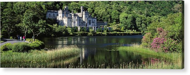 Abbey Acrylic Print featuring the photograph Church Near A Lake, Kylemore Abbey by The Irish Image Collection