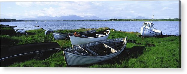 Boat Acrylic Print featuring the photograph Connemara, Co Galway, Ireland Boats by The Irish Image Collection