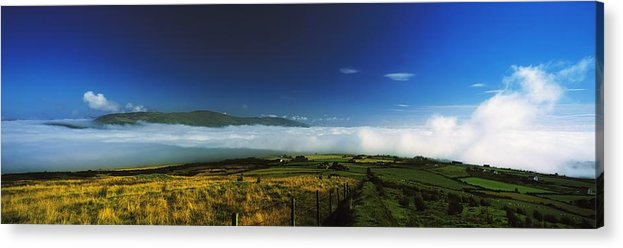 Cloud Acrylic Print featuring the photograph Inishowen, Co Donegal, Ireland Mist by The Irish Image Collection