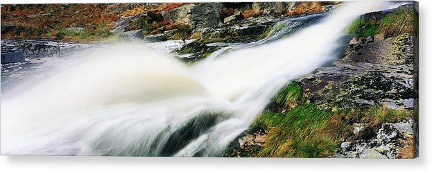 Cascading Acrylic Print featuring the photograph Ireland Waterfall by The Irish Image Collection