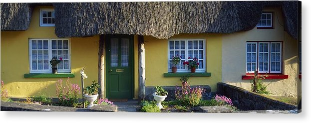 Architecture Acrylic Print featuring the photograph Thatched Cottage, Adare, Co Limerick by The Irish Image Collection