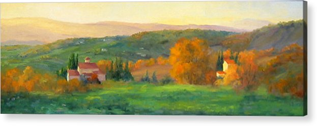 Chianti Acrylic Print featuring the painting Chianti Glow by Bunny Oliver