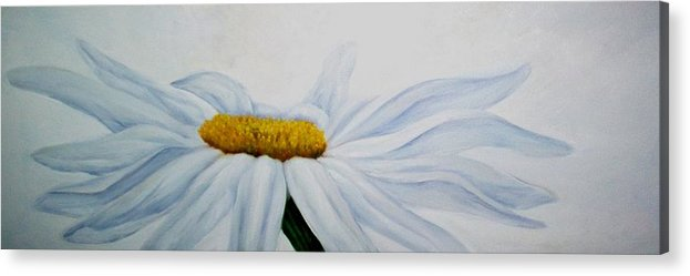 Flower Acrylic Print featuring the painting Daisy by Elsa Gallegos