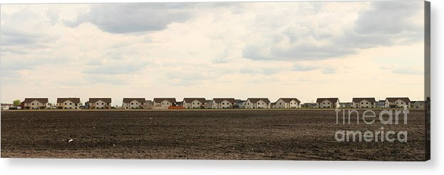 Brown Acrylic Print featuring the photograph Homes On The Prairie by Steve Augustin