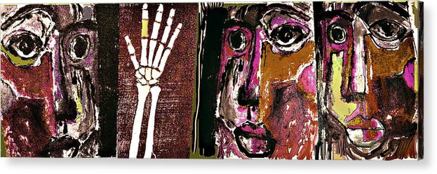 Violence Acrylic Print featuring the mixed media Intervention 3 by Noredin Morgan