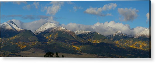 Colorado Photographs Acrylic Print featuring the photograph Autumn In The Sangres by Gary Benson