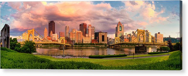 Pittsburgh Acrylic Print featuring the photograph Break Open The Skies by Jennifer Grover