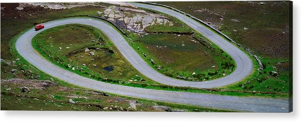 Automobiles Acrylic Print featuring the photograph Hairpin Bends In The, Healy Pass, Beara by The Irish Image Collection