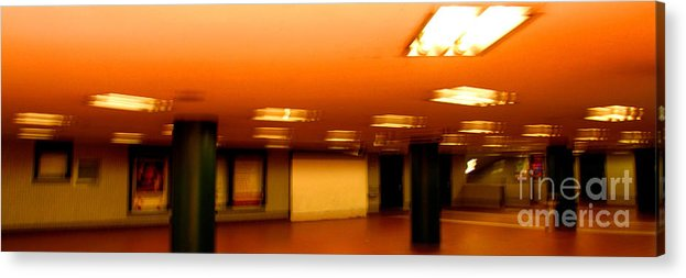 Red Acrylic Print featuring the photograph Red Subway by Andy Prendy