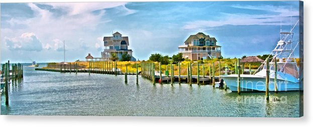 Cape Hatteras Acrylic Print featuring the painting Summer Awaits by Anne Kitzman