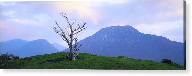 Beauty In Nature Acrylic Print featuring the photograph Twelve Bens, Connemara, Co Galway by The Irish Image Collection