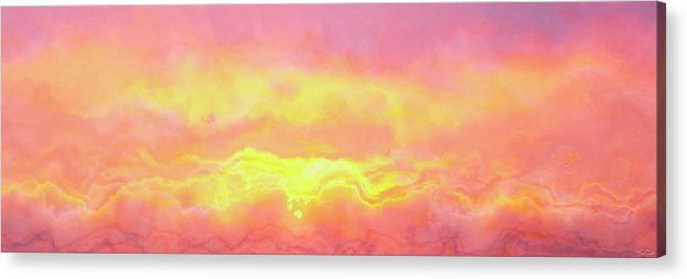 Abstract Art Acrylic Print featuring the mixed media Above The Clouds - Abstract Art by Jaison Cianelli