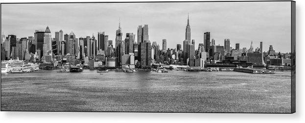 Cityscapes Acrylic Print featuring the photograph Big Apple Skyline by Louis Dallara