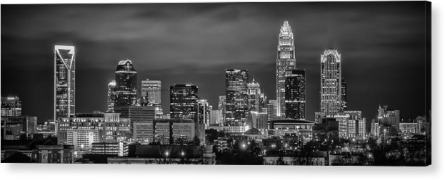 Charlotte Acrylic Print featuring the photograph Charlotte Greyscale by Brian Young