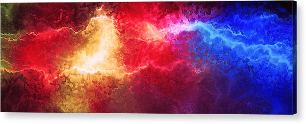 Abstract Art Acrylic Print featuring the painting Creation - Abstract Art by Jaison Cianelli