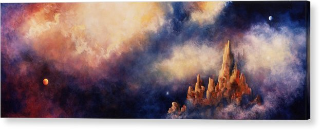 Landscape Acrylic Print featuring the painting Dreaming Sedona by Marina Petro