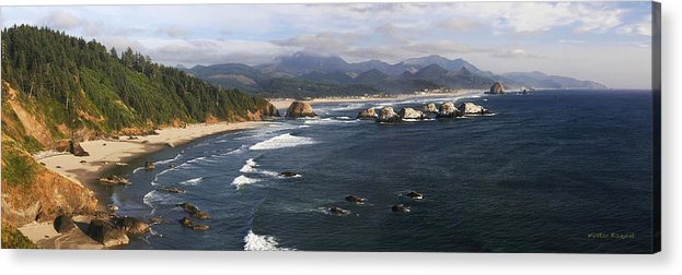 Ocean Acrylic Print featuring the photograph Ecola Vista by Winston Rockwell