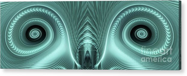 Electric Sheep Acrylic Print featuring the digital art Electric Sheep by John Edwards