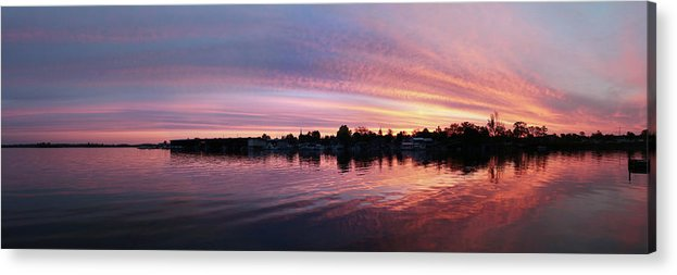 Sunrise Acrylic Print featuring the photograph French Creek Sunrise by Lori Deiter